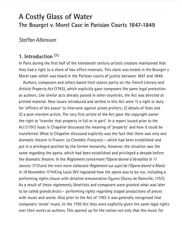 Fairness Rocks News A Costly Glass of Water: The Bourget v. Morel Case in Parisian Courts 1847-1849