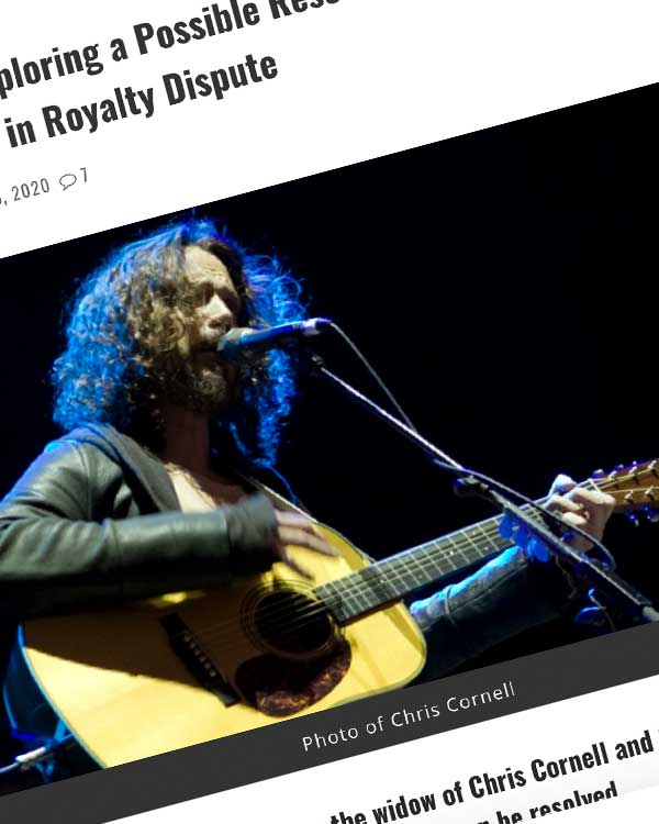 Fairness Rocks News Soundgarden 'Exploring a Possible Resolution' with Chris Cornell's Widow in Royalty Dispute