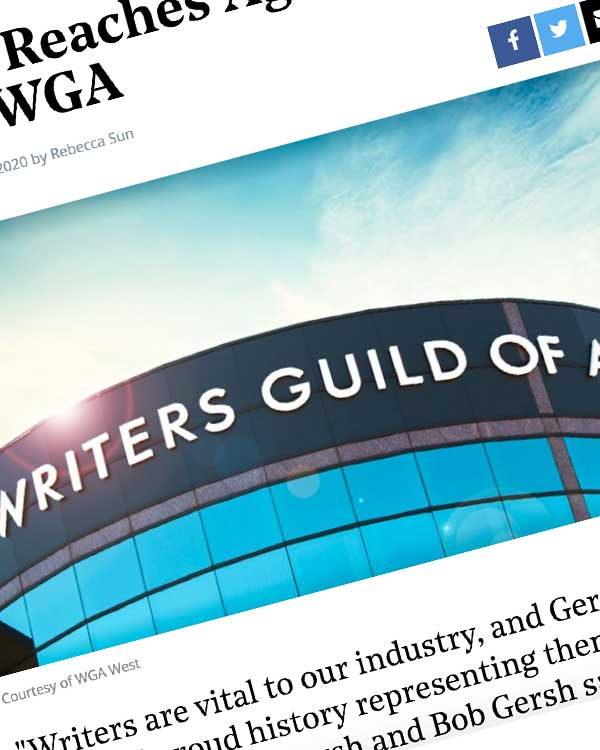 Fairness Rocks News Gersh Reaches Agreement With WGA