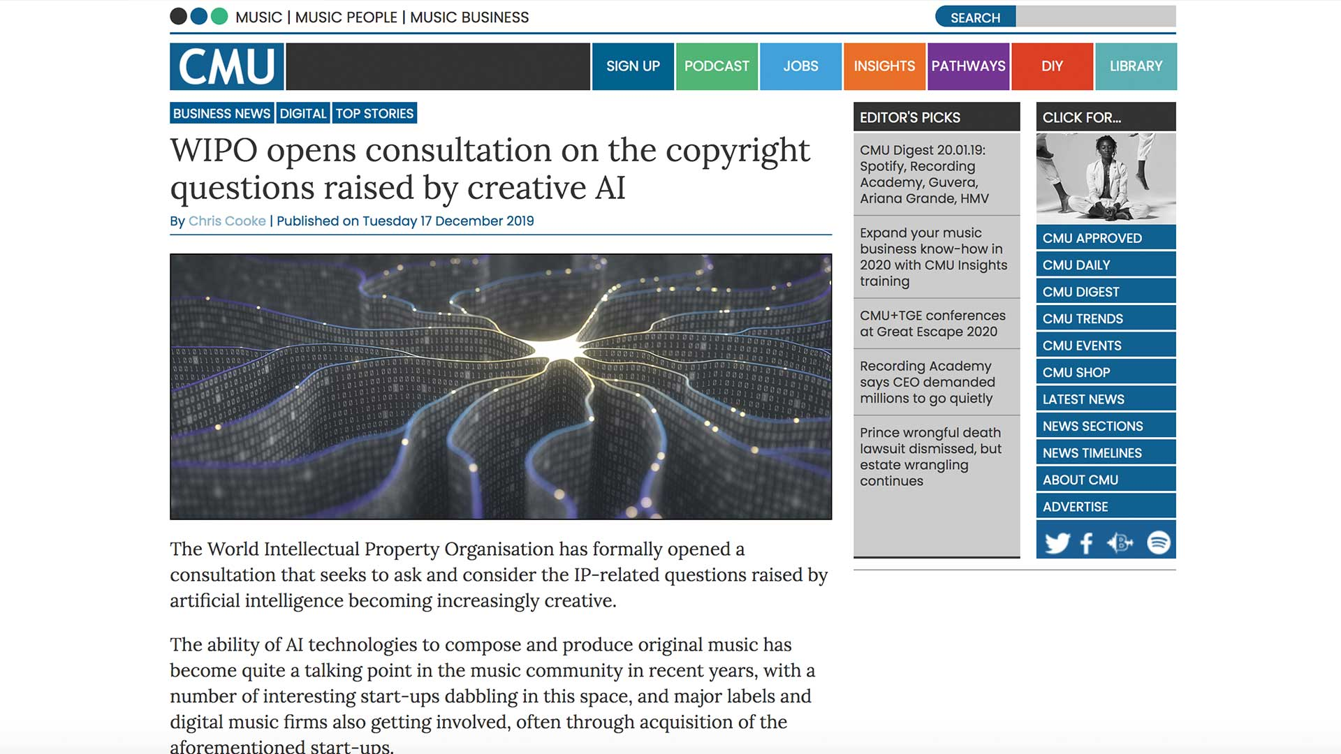 Fairness Rocks News WIPO opens consultation on the copyright questions raised by creative AI