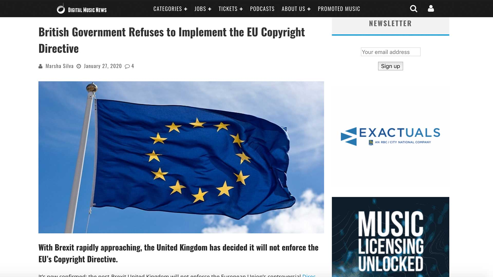 Fairness Rocks News British Government Refuses to Implement the EU Copyright Directive