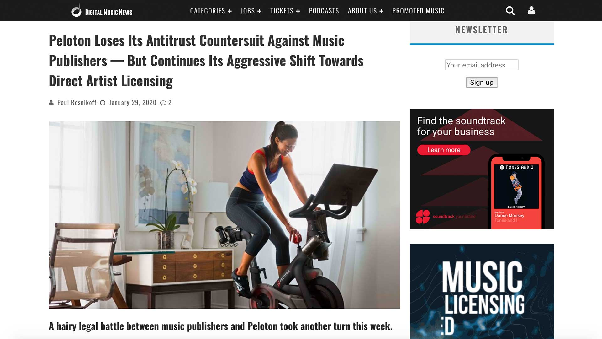 Fairness Rocks News Peloton Loses Its Antitrust Countersuit Against Music Publishers — But Continues Its Aggressive Shift Towards Direct Artist Licensing