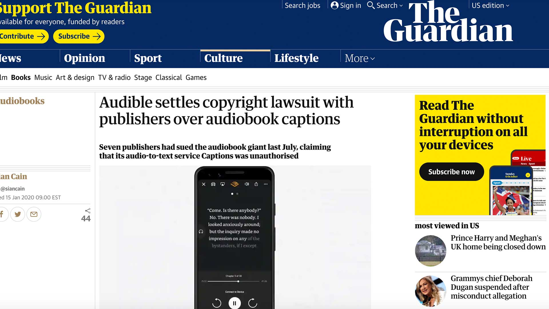 Fairness Rocks News Audible settles copyright lawsuit with publishers over audiobook captions