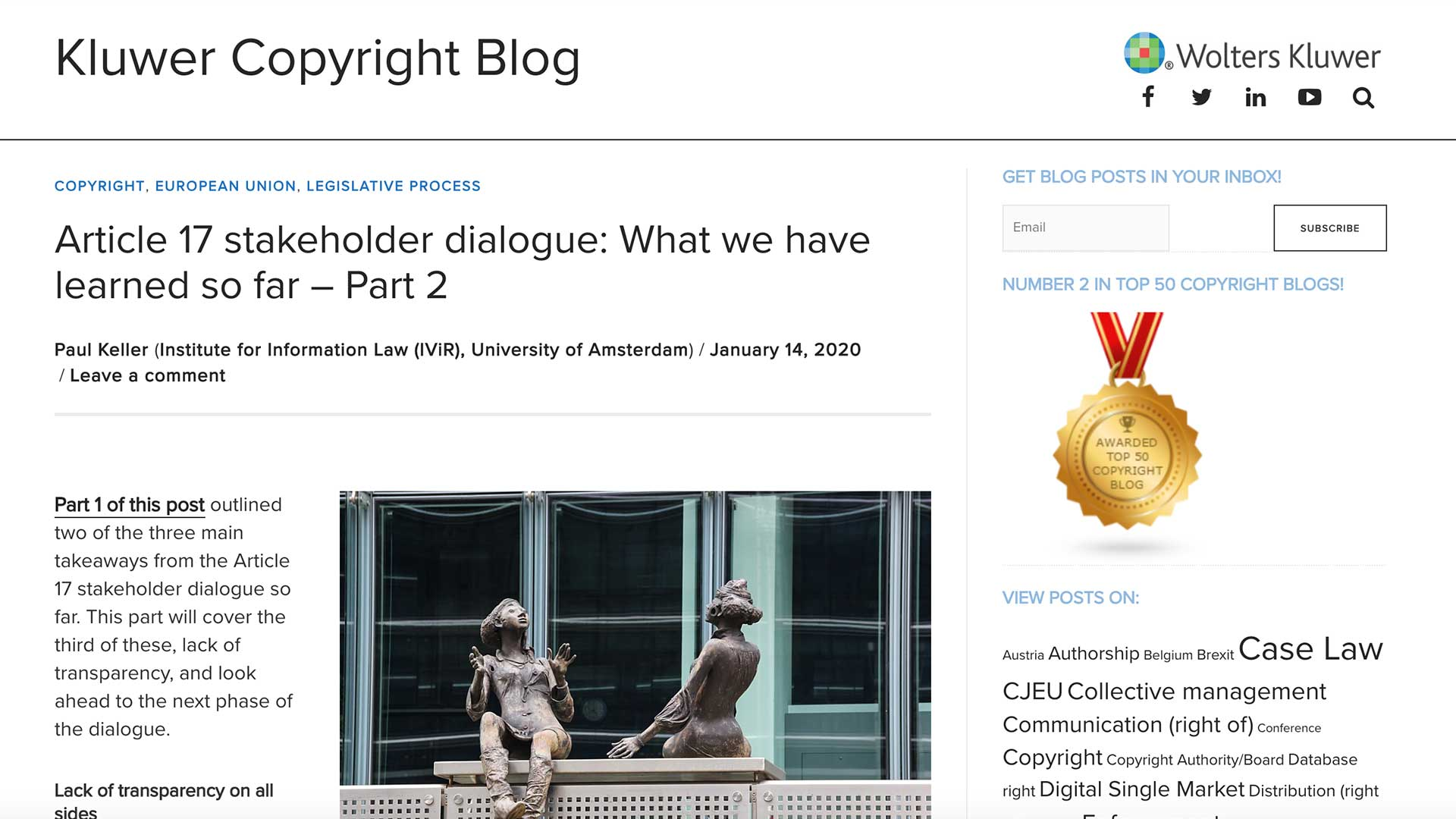 Fairness Rocks News Article 17 stakeholder dialogue: What we have learned so far – Part 2