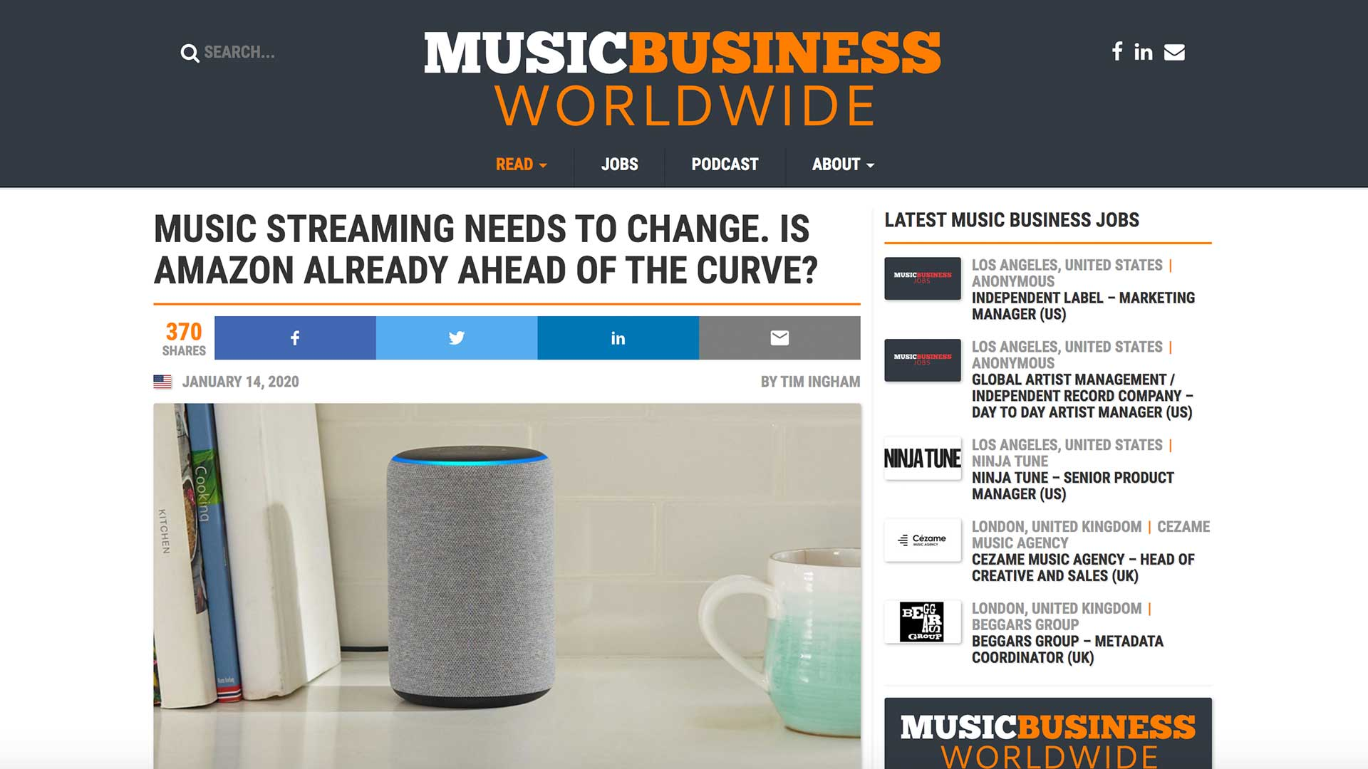 Fairness Rocks News MUSIC STREAMING NEEDS TO CHANGE. IS AMAZON ALREADY AHEAD OF THE CURVE?