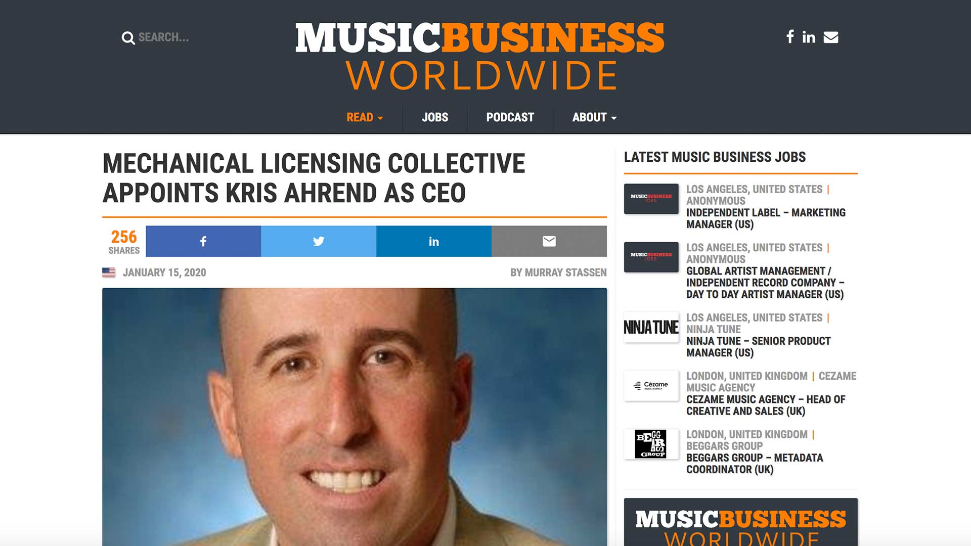Fairness Rocks News MECHANICAL LICENSING COLLECTIVE APPOINTS KRIS AHREND AS CEO