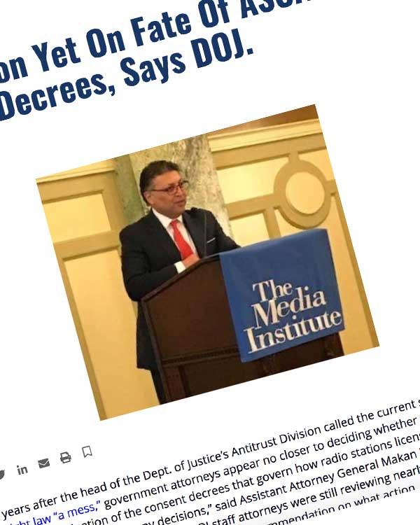 Fairness Rocks News No Decision Yet On Fate Of ASCAP-BMI Consent Decrees, Says DOJ.