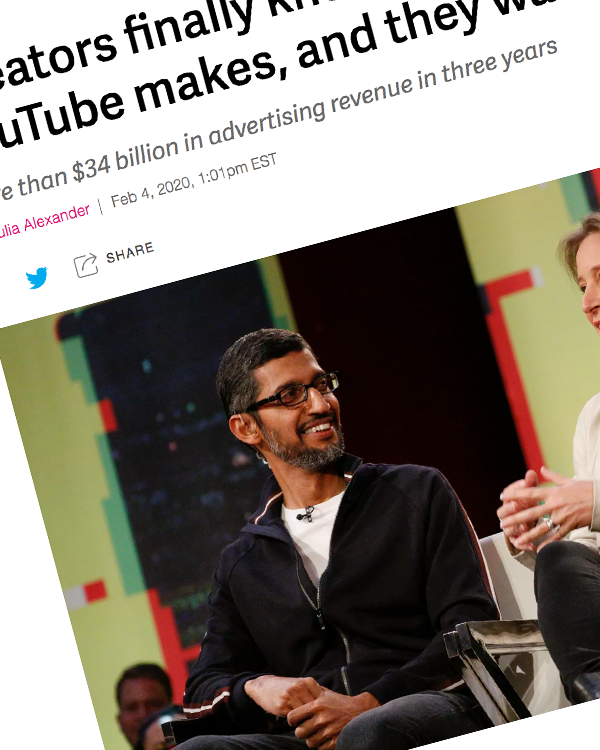 Fairness Rocks News Creators finally know how much money YouTube makes, and they want more of it