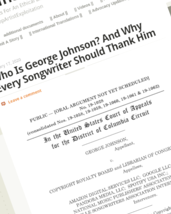 Fairness Rocks News Who Is George Johnson? And Why Every Songwriter Should Thank Him