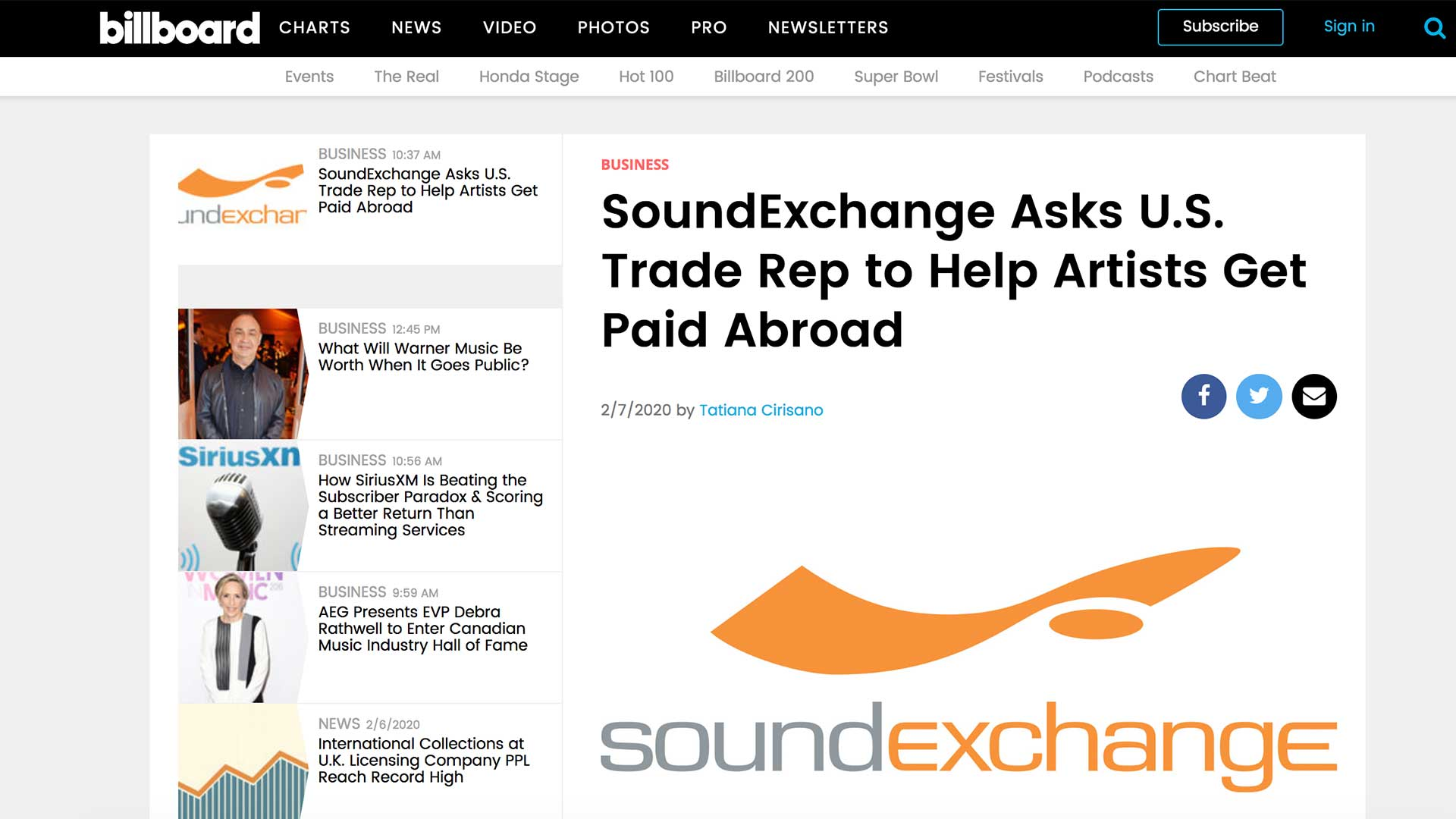 Fairness Rocks News SoundExchange Asks U.S. Trade Rep to Help Artists Get Paid Abroad