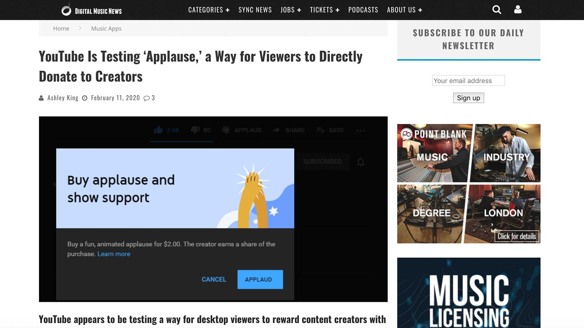 Fairness Rocks News YouTube Is Testing 'Applause,' a Way for Viewers to Directly Donate to Creators