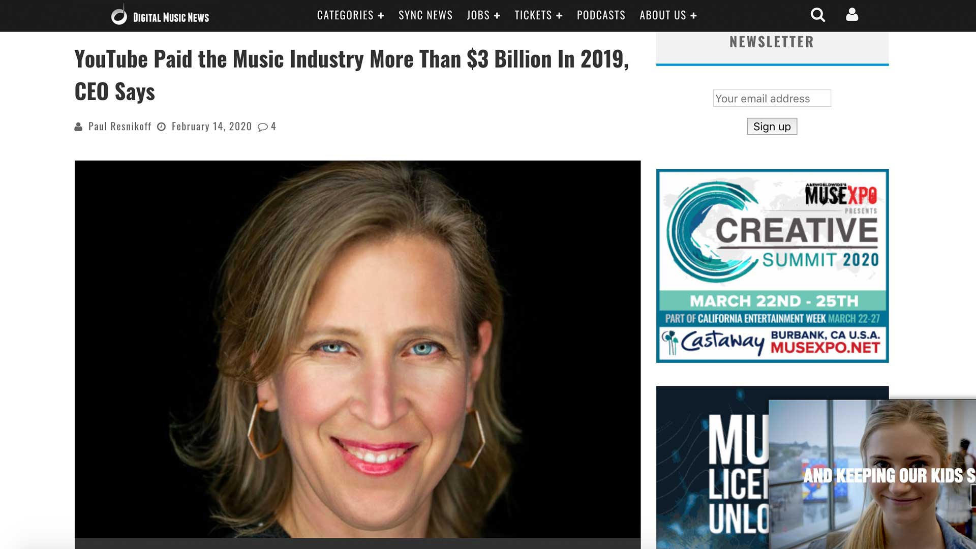 Fairness Rocks News YouTube Paid the Music Industry More Than $3 Billion In 2019, CEO Says