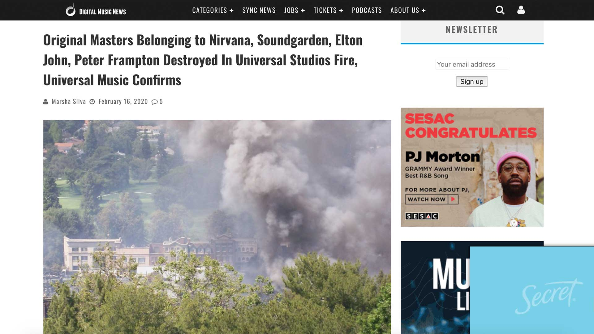 Fairness Rocks News Original Masters Belonging to Nirvana, Soundgarden, Elton John, Peter Frampton Destroyed In Universal Studios Fire, Universal Music Confirms