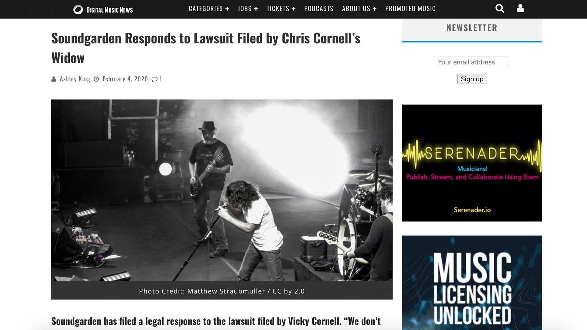 Fairness Rocks News Soundgarden Responds to Lawsuit Filed by Chris Cornell's Widow