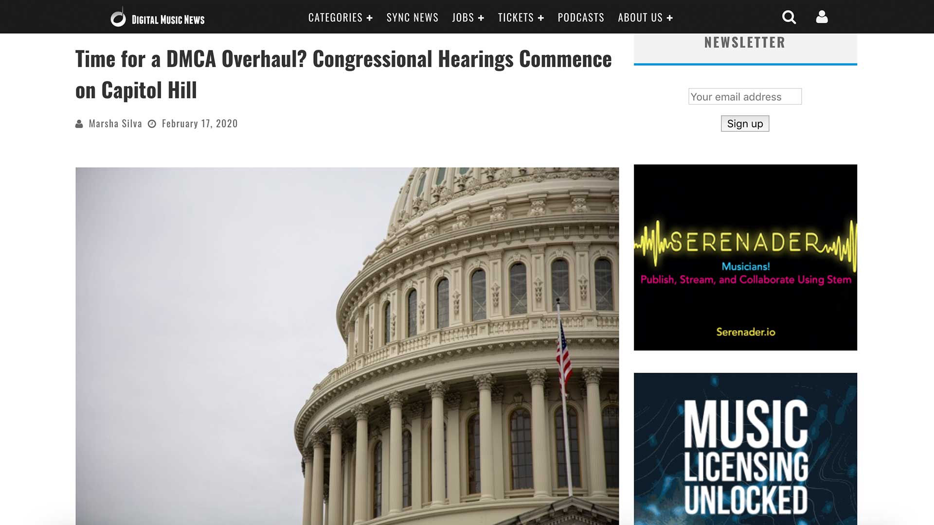 Fairness Rocks News Time for a DMCA Overhaul? Congressional Hearings Commence on Capitol Hill