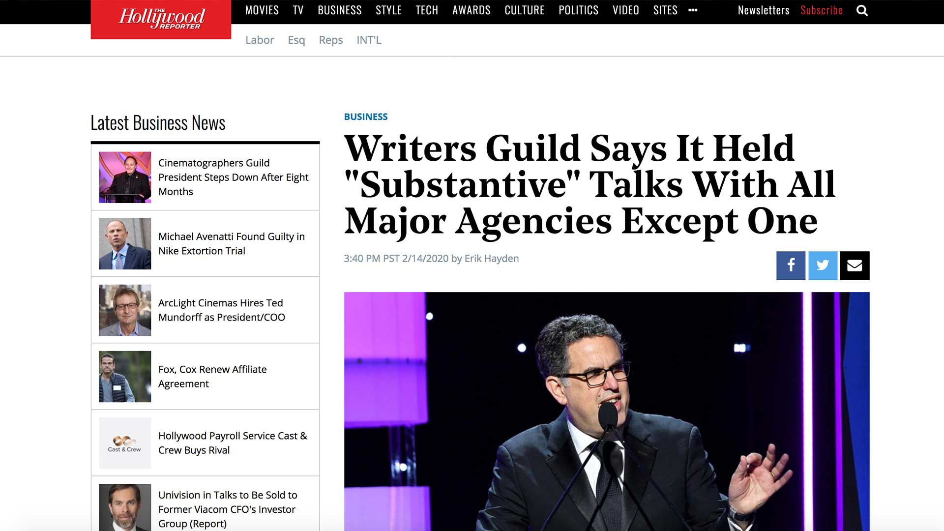 """Fairness Rocks News Writers Guild Says It Held """"Substantive"""" Talks With All Major Agencies Except One"""