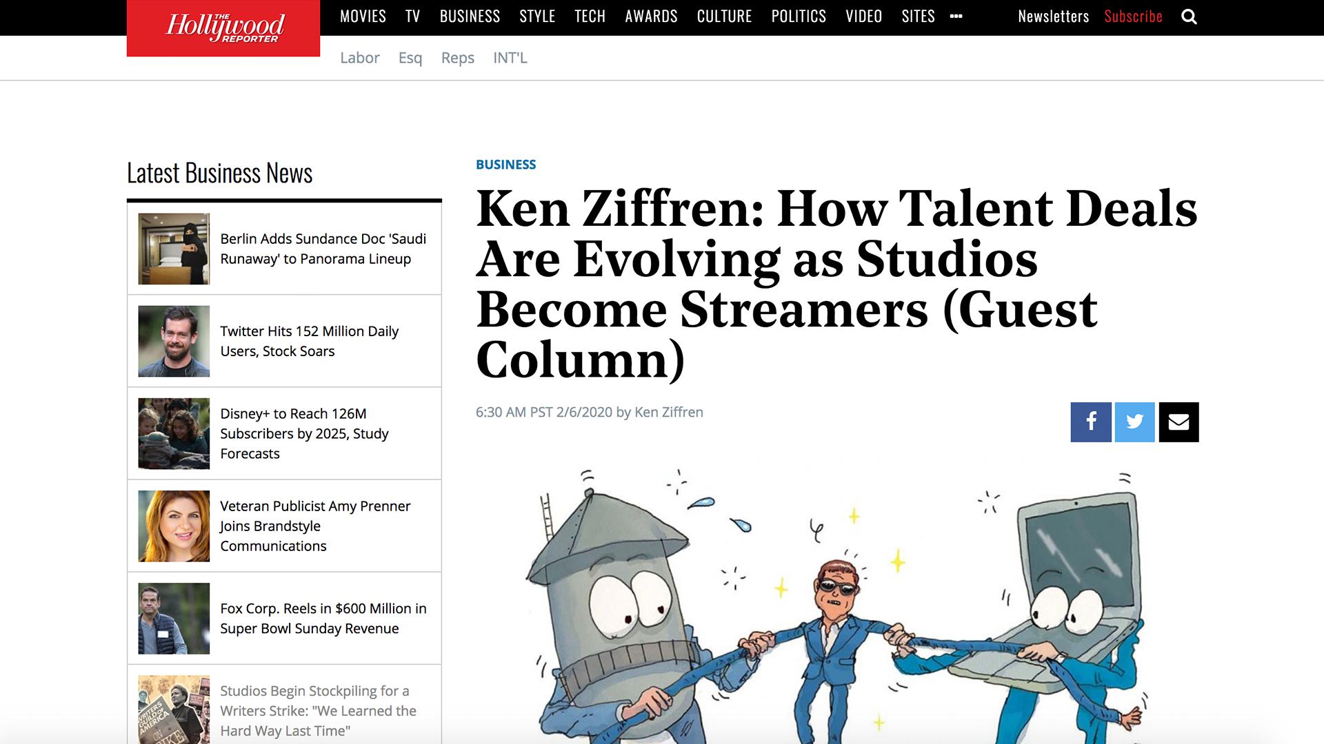 Fairness Rocks News Ken Ziffren: How Talent Deals Are Evolving as Studios Become Streamers (Guest Column)