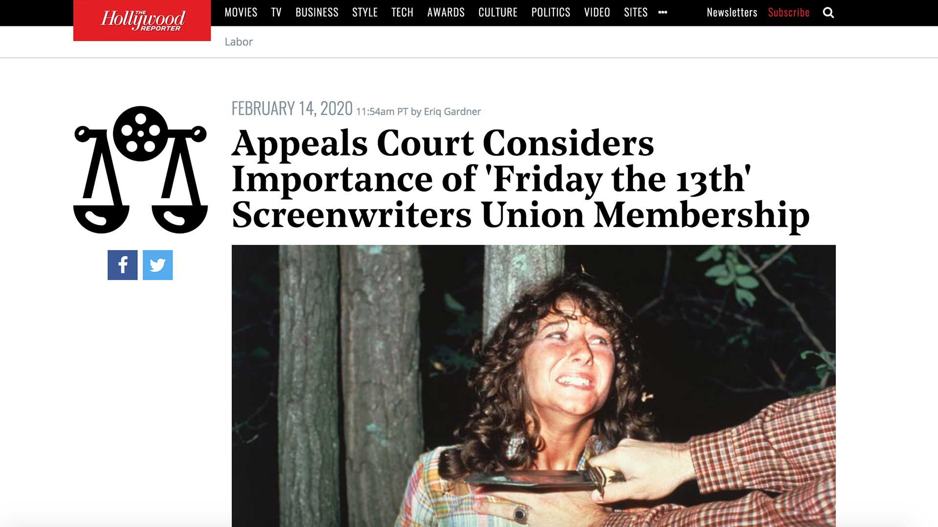 Fairness Rocks News Appeals Court Considers Importance of 'Friday the 13th' Screenwriters Union Membership