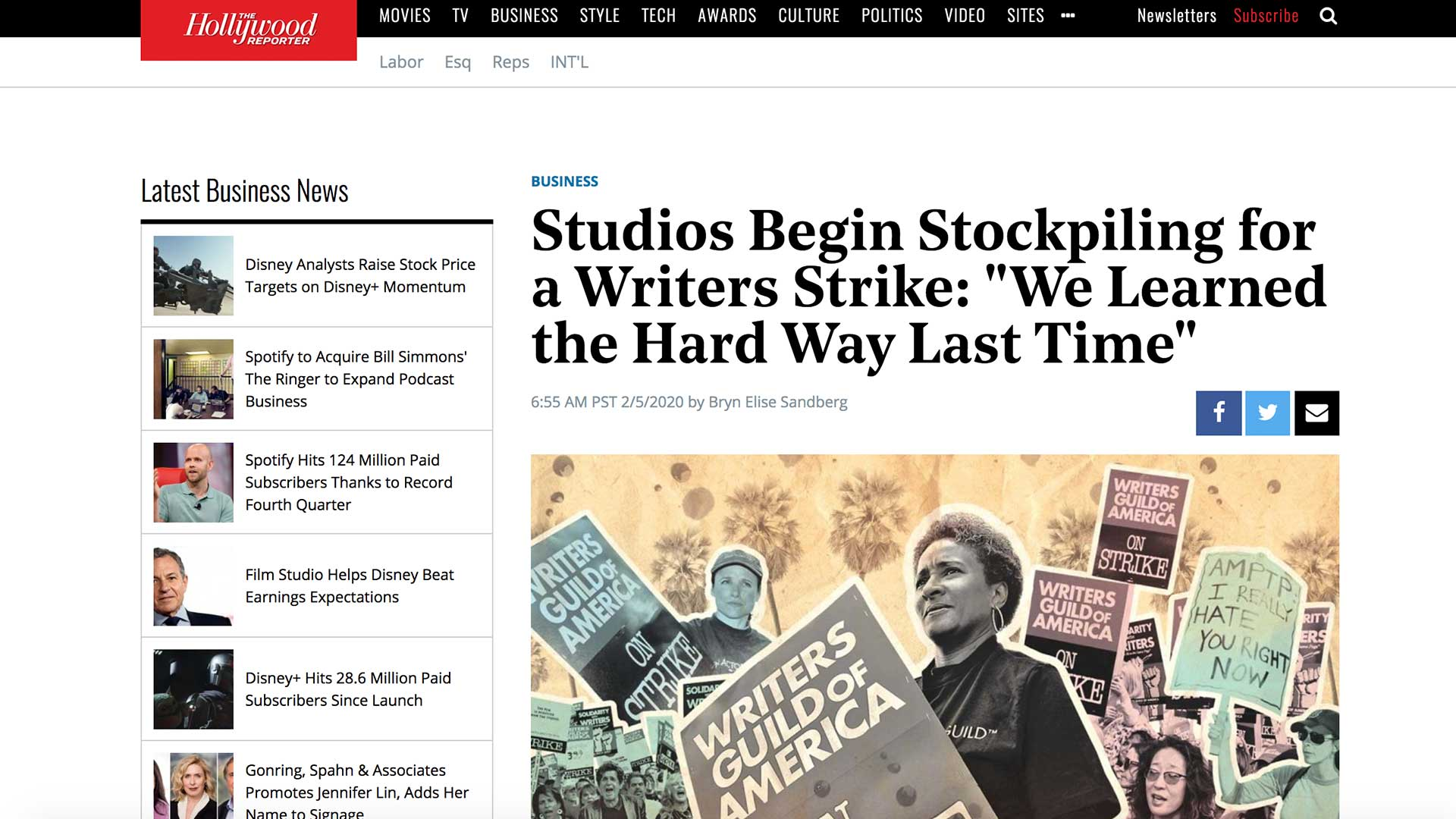 """Fairness Rocks News Studios Begin Stockpiling for a Writers Strike: """"We Learned the Hard Way Last Time"""""""