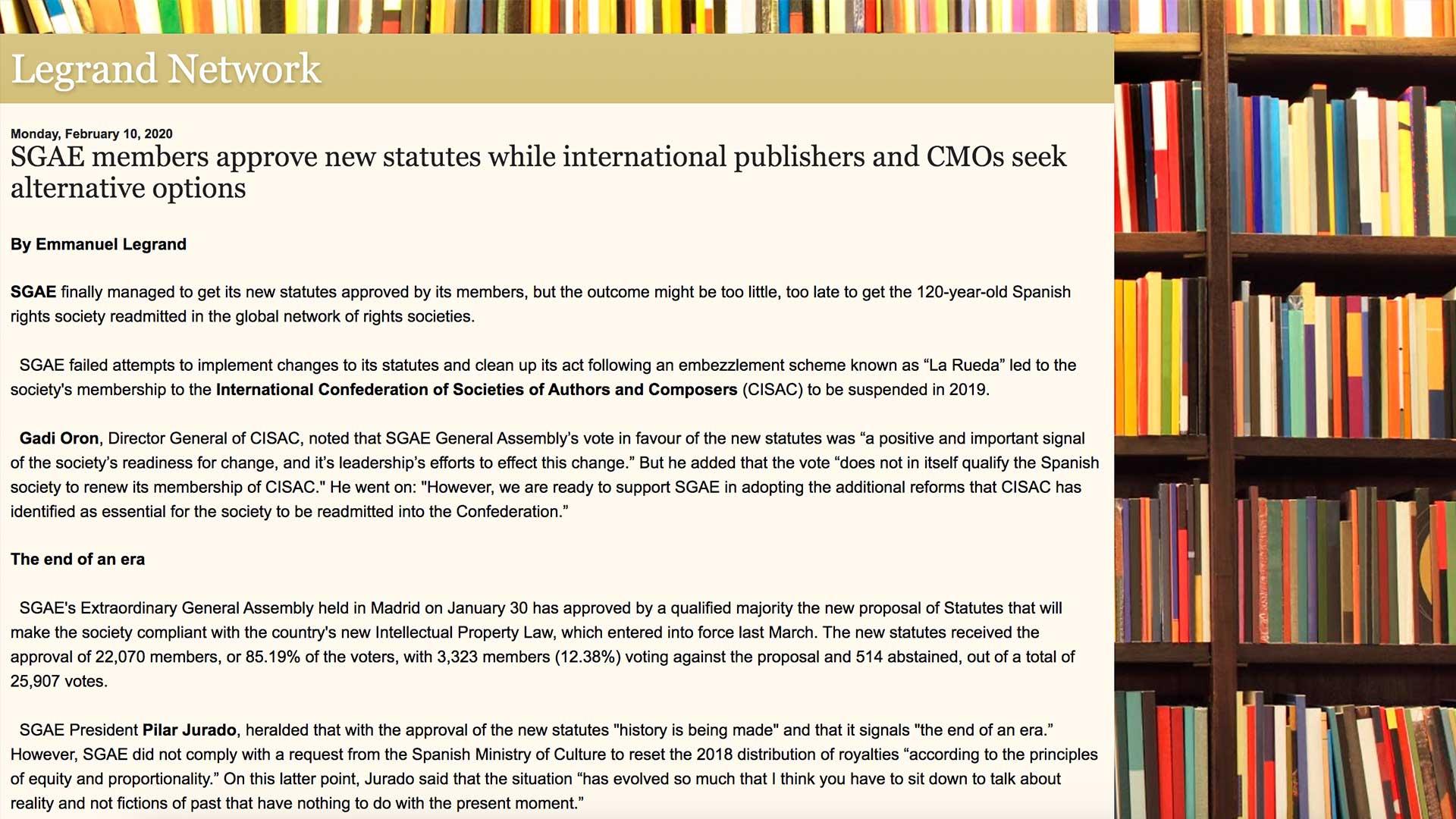 Fairness Rocks News SGAE members approve new statutes while international publishers and CMOs seek alternative options