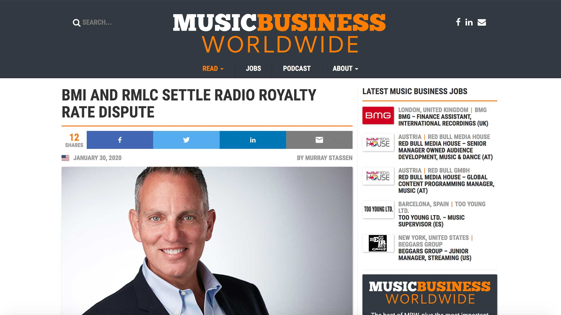 Fairness Rocks News BMI AND RMLC SETTLE RADIO ROYALTY RATE DISPUTE