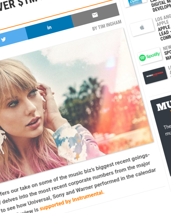 Fairness Rocks News It's happened: The major labels are now generating over $1m every hour from streaming