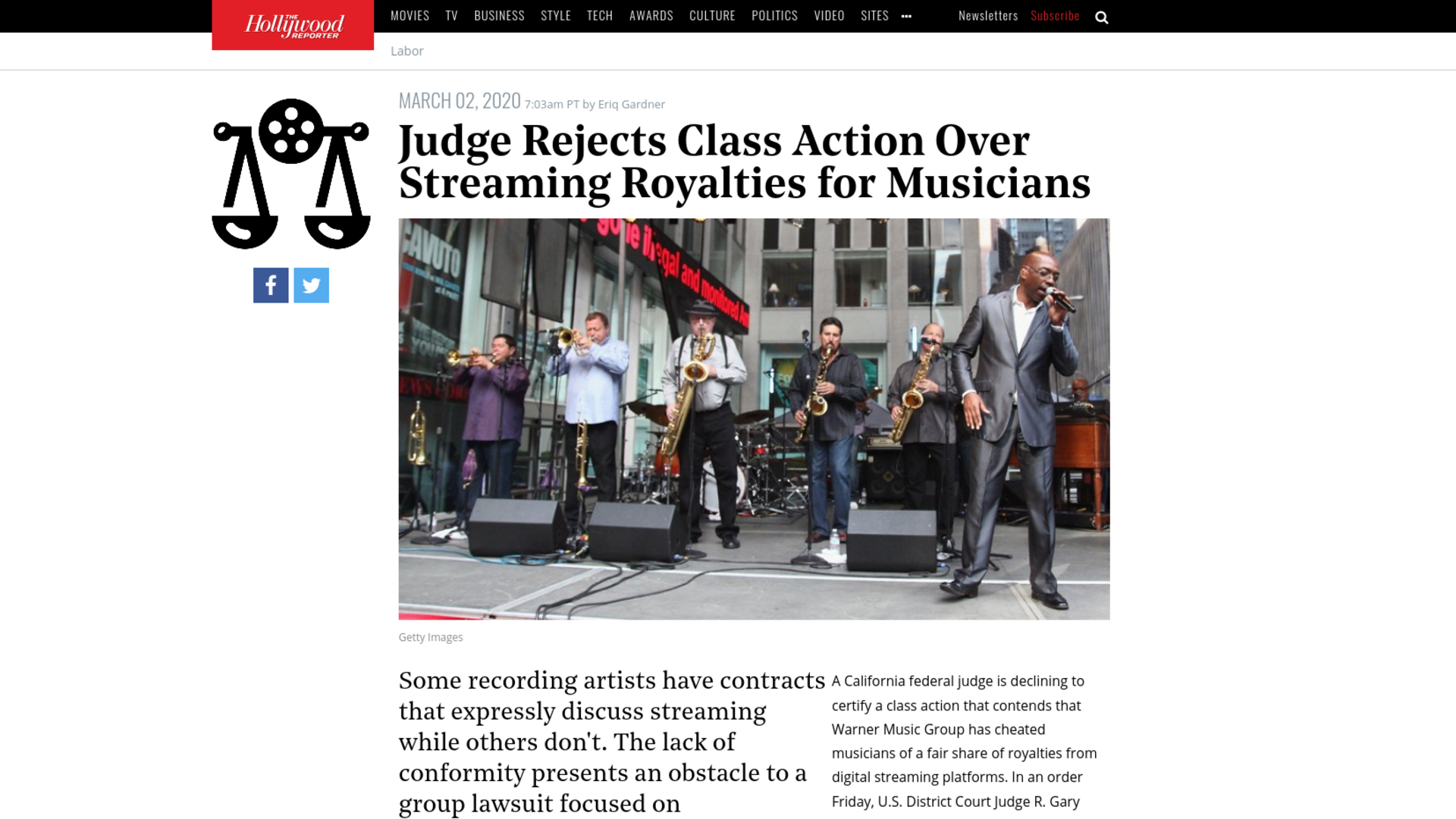 Fairness Rocks News Judge Rejects Class Action Over Streaming Royalties for Musicians