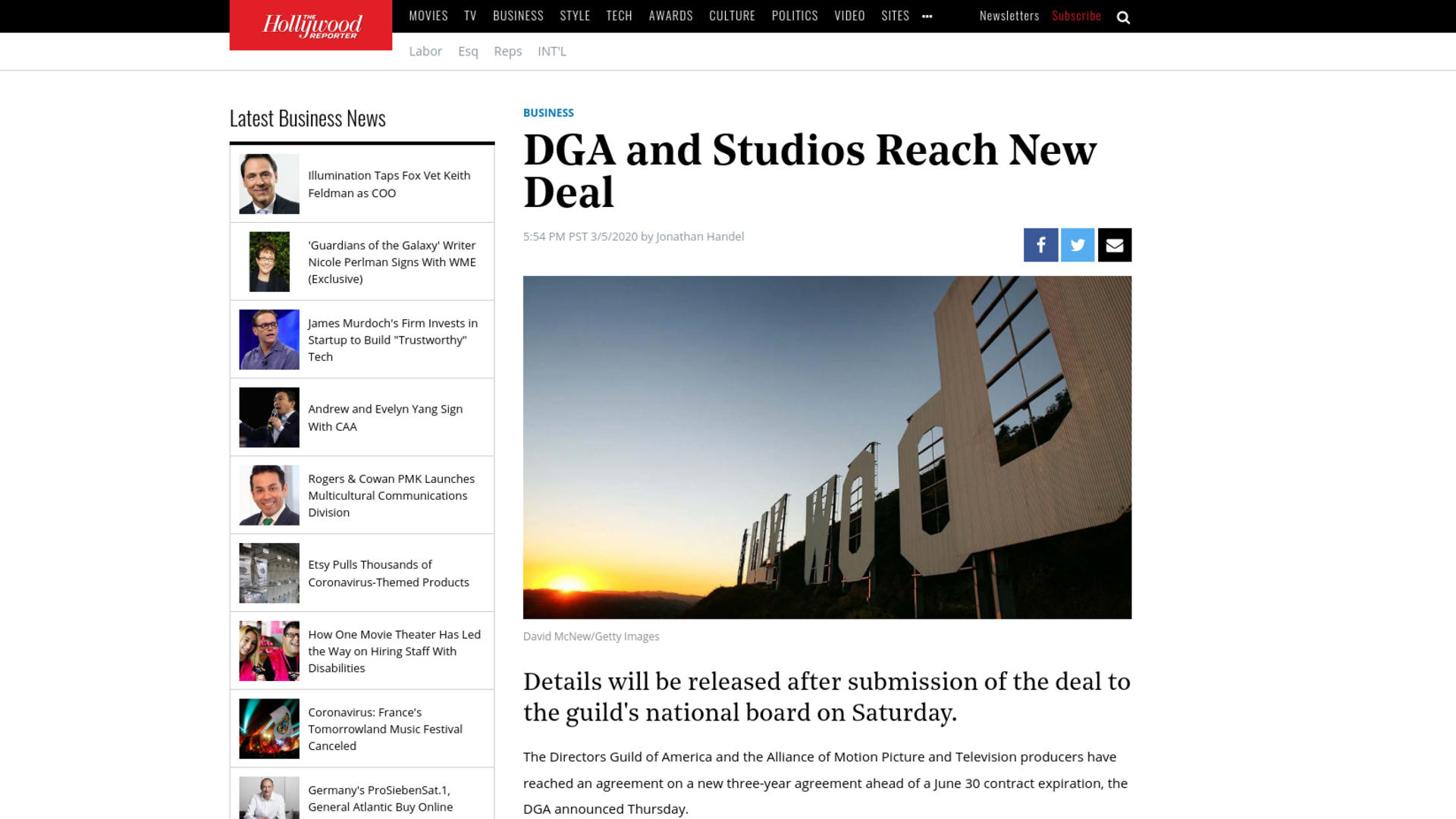 Fairness Rocks News DGA and Studios Reach New Deal