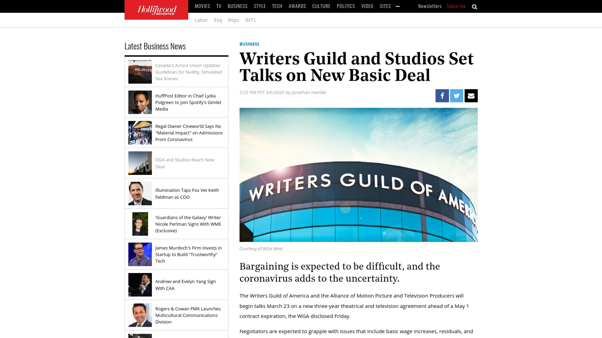 Fairness Rocks News Writers Guild and Studios Set Talks on New Basic Deal