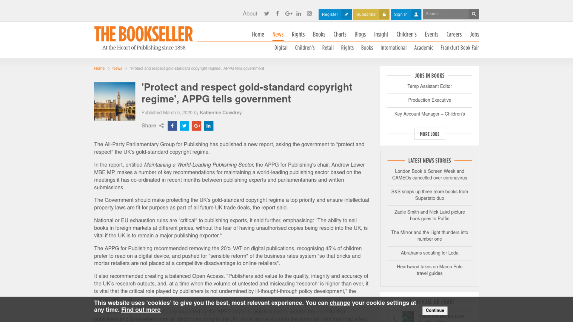 Fairness Rocks News 'Protect and respect gold-standard copyright regime', APPG tells government