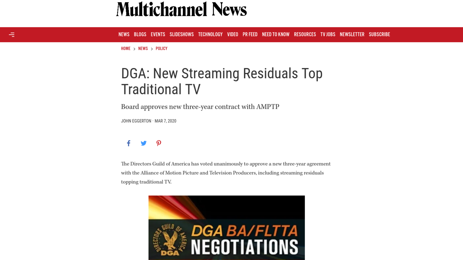 Fairness Rocks News DGA: New Streaming Residuals Top Traditional TV