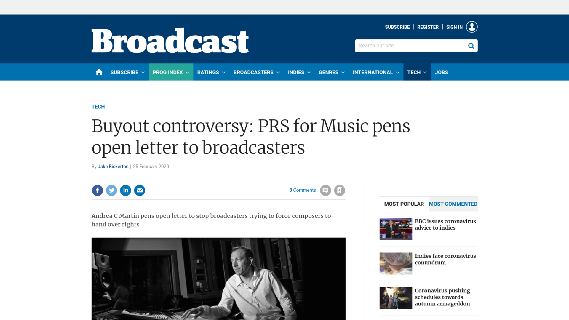 Fairness Rocks News Buyout controversy: PRS for Music pens open letter to broadcasters