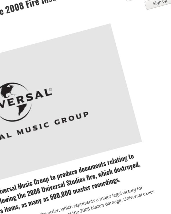 Fairness Rocks News Universal Music Ordered to Produce 2008 Fire Insurance Settlement Details