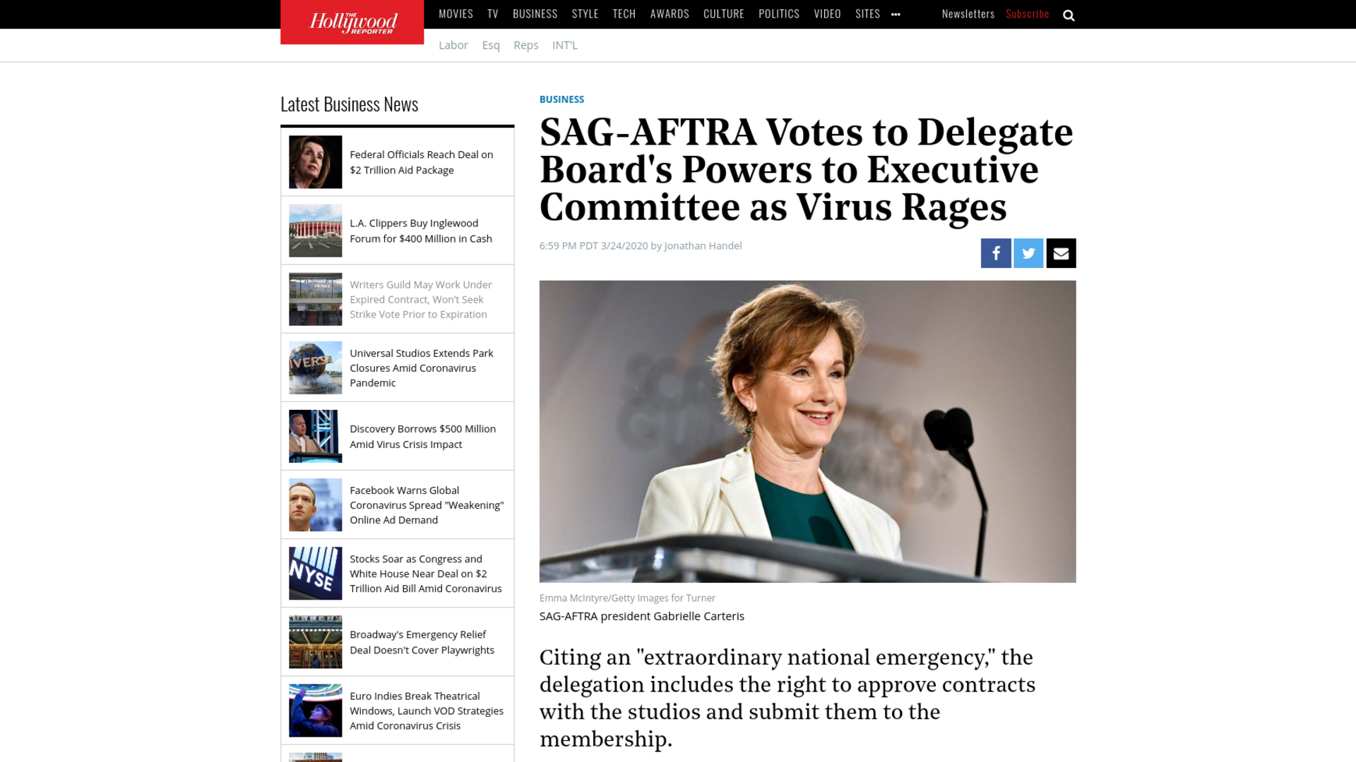 Fairness Rocks News SAG-AFTRA Votes to Delegate Board's Powers to Executive Committee as Virus Rages