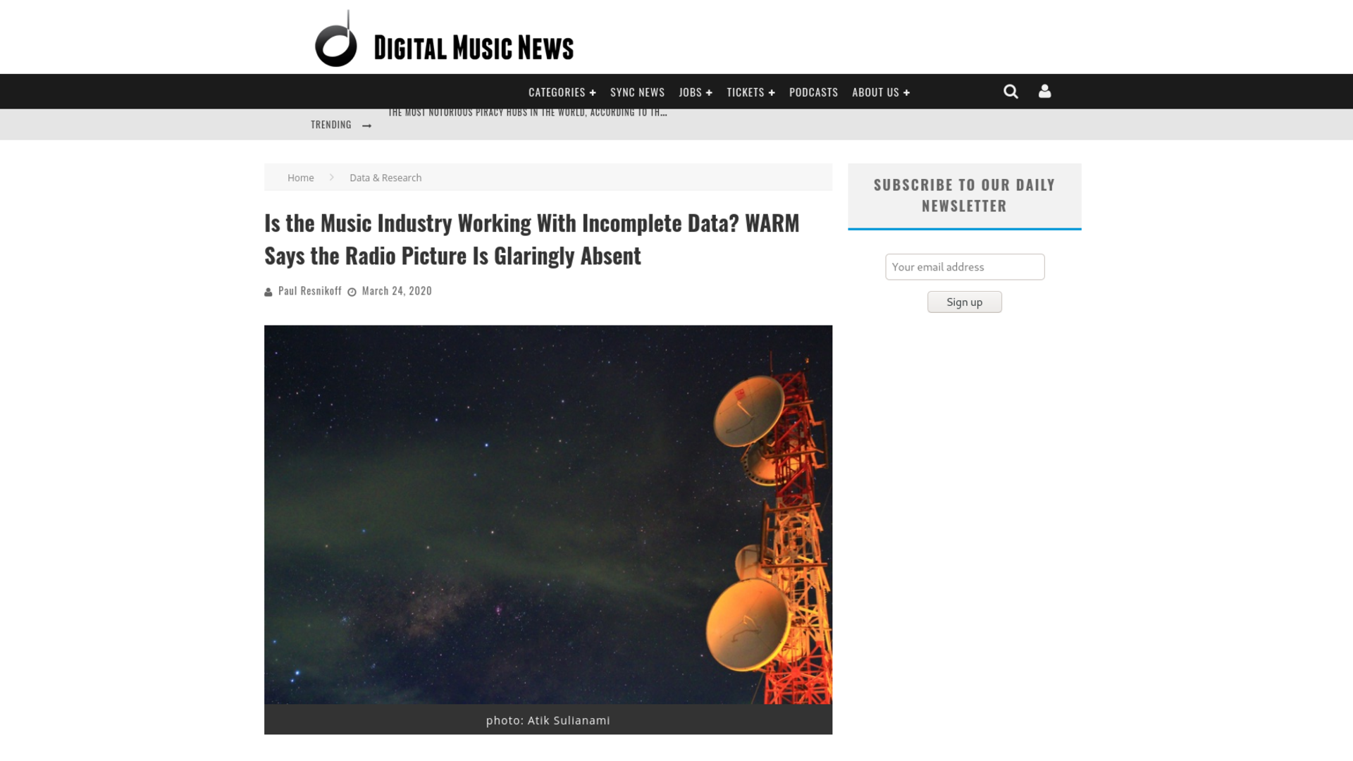 Fairness Rocks News Is the Music Industry Working With Incomplete Data? WARM Says the Radio Picture Is Glaringly Absent