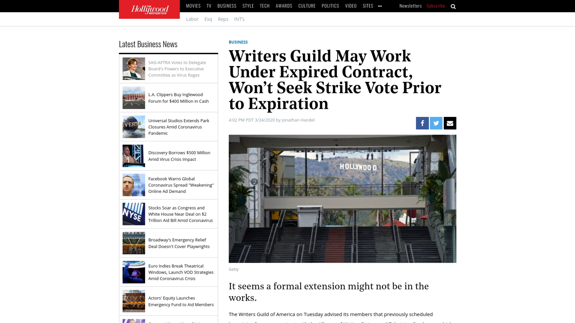 Fairness Rocks News Writers Guild May Work Under Expired Contract, Won't Seek Strike Vote Prior to Expiration