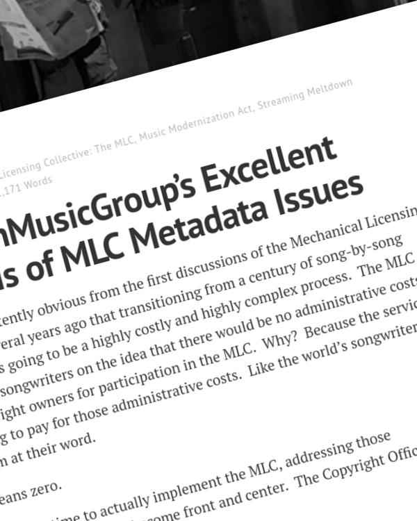 Fairness Rocks News @NorthMusicGroup's Excellent Analysis of MLC Metadata Issues