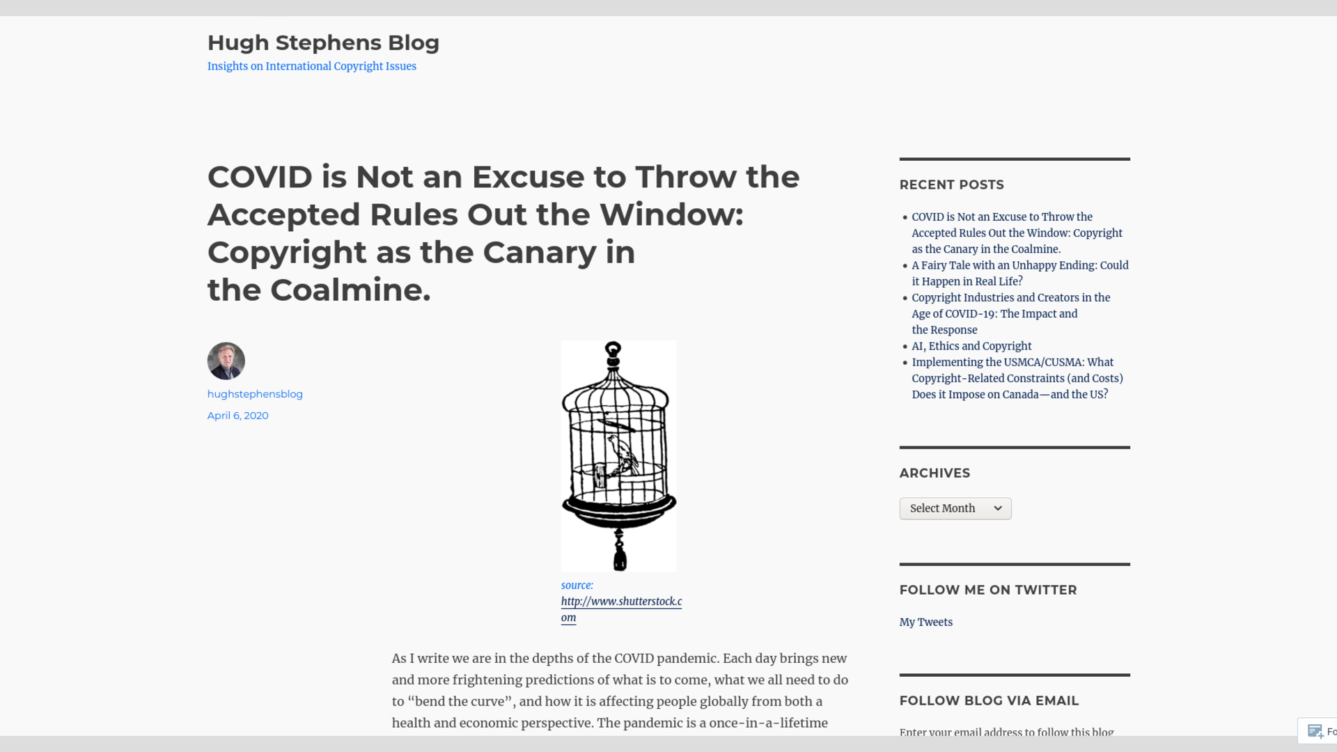 Fairness Rocks News COVID is Not an Excuse to Throw the Accepted Rules Out the Window: Copyright as the Canary in the Coalmine.