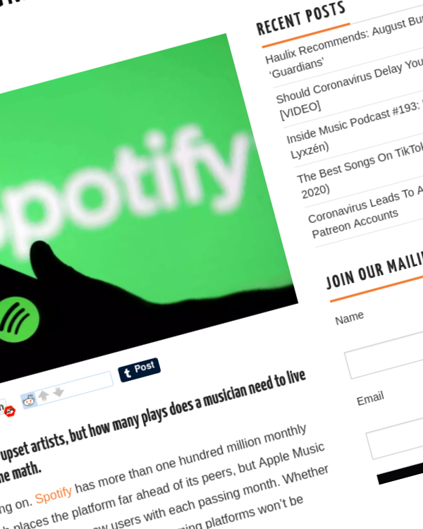 Fairness Rocks News How Many Spotify Streams Do You Need To Live Above The Poverty Line?