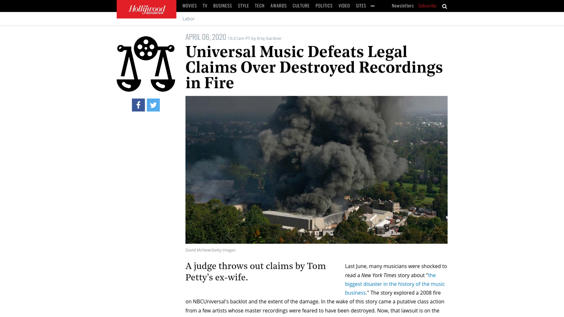 Fairness Rocks News Universal Music Defeats Legal Claims Over Destroyed Recordings in Fire