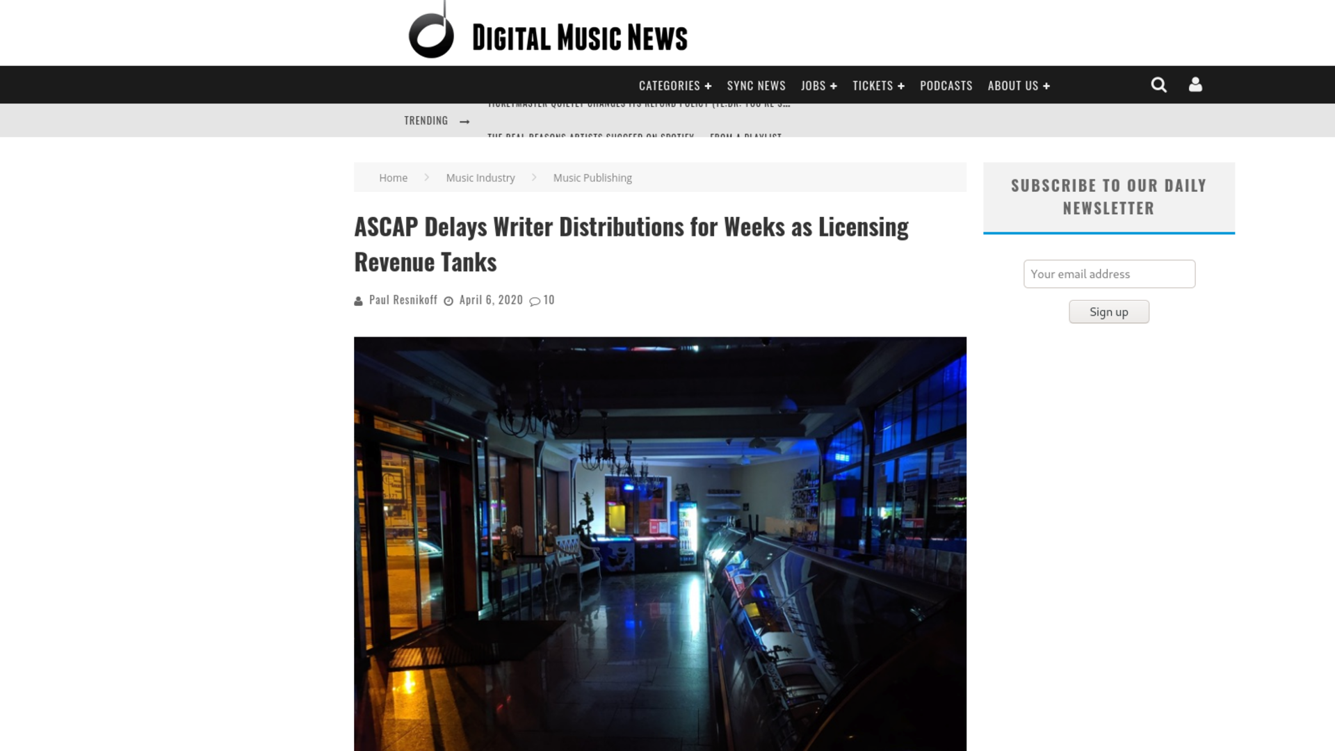 Fairness Rocks News ASCAP Delays Writer Distributions for Weeks as Licensing Revenue Tanks