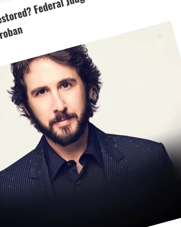 Fairness Rocks News Is Legal Sanity Being Restored? Federal Judge Tosses Copyright Lawsuit Against Josh Groban