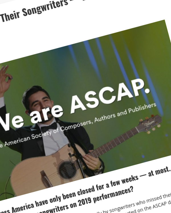 Fairness Rocks News ASCAP Still Not Paying Their Songwriters — BMI Paid Everyone 3 Days Early