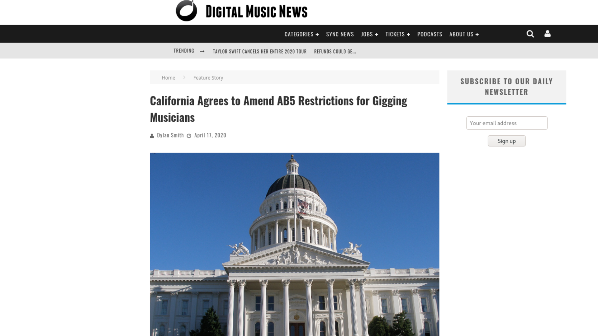 Fairness Rocks News California Agrees to Amend AB5 Restrictions for Gigging Musicians