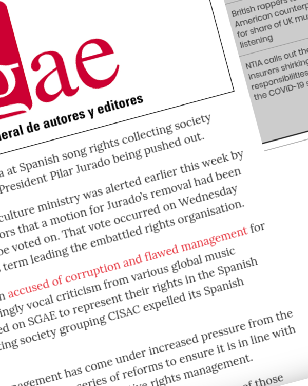 Fairness Rocks News SGAE ousts another president