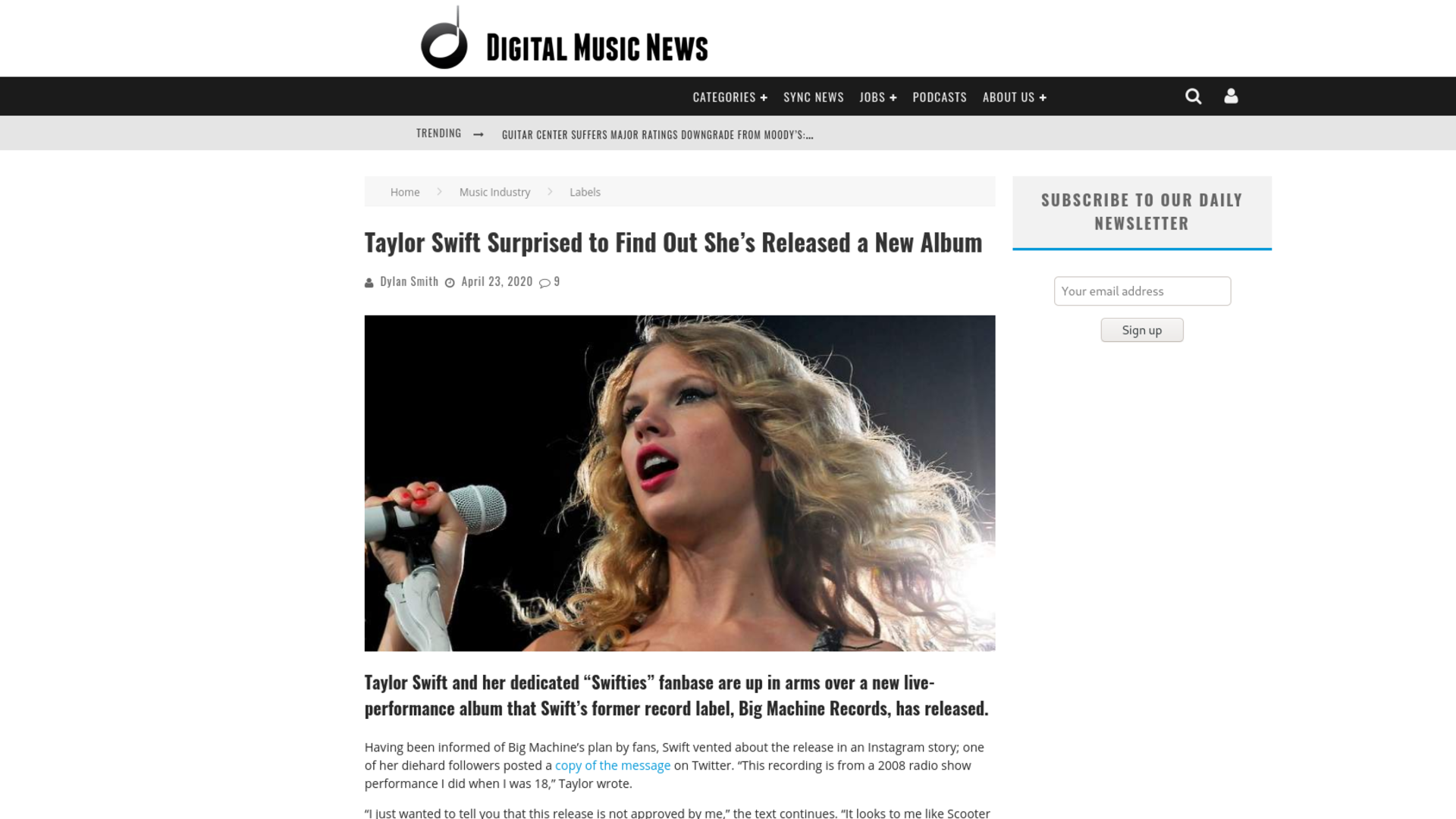 Fairness Rocks News Taylor Swift Surprised to Find Out She's Released a New Album