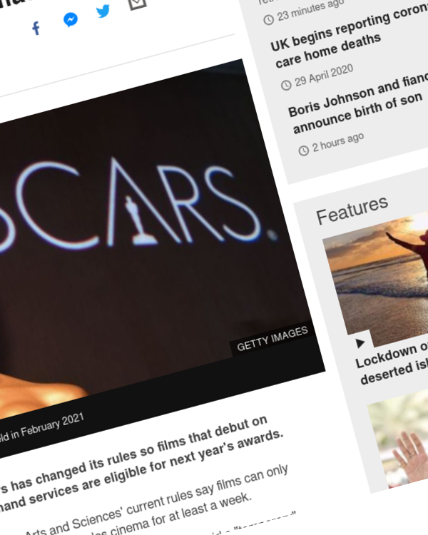 Fairness Rocks News Oscars change streaming rules amid battle for future of cinemas