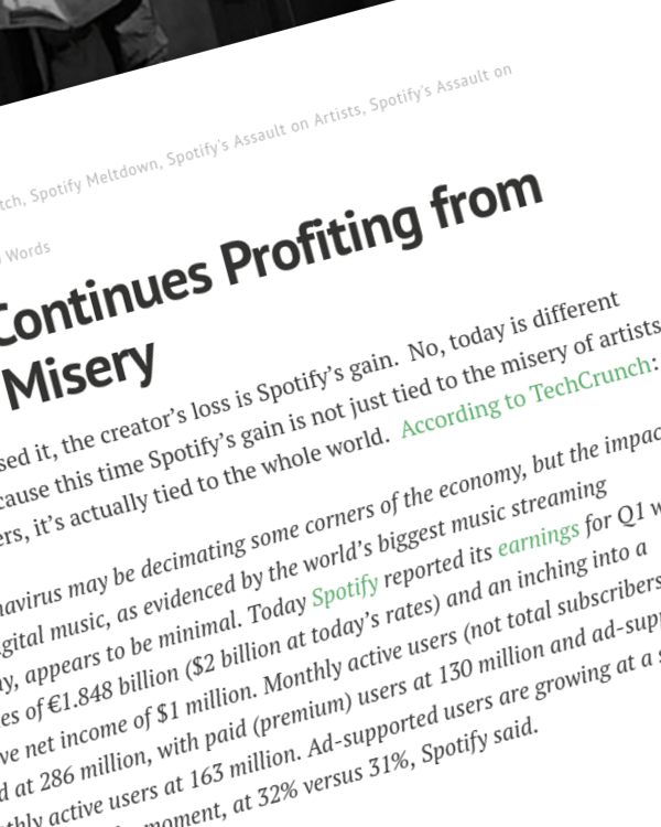 Fairness Rocks News Spotify Continues Profiting from Human Misery