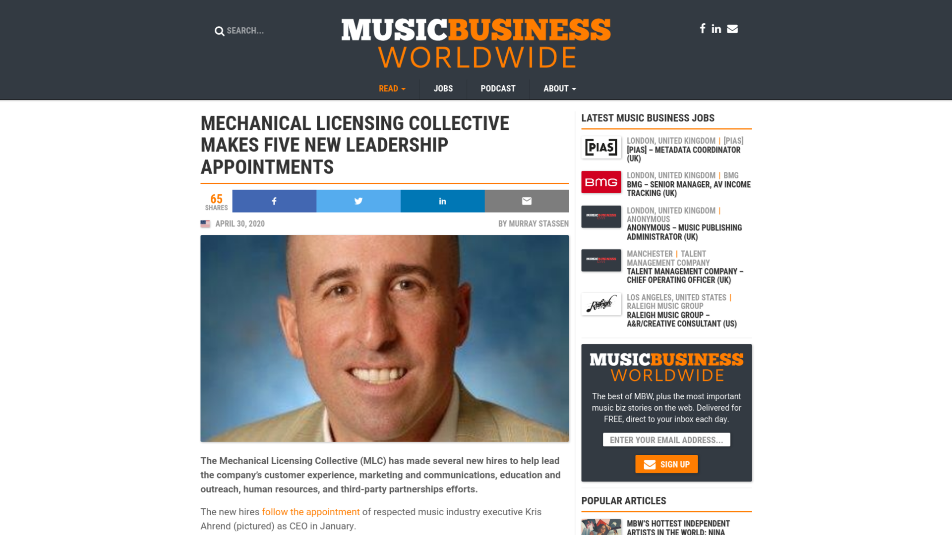 Fairness Rocks News Mechanical Licensing Collective makes five new leadership appointments