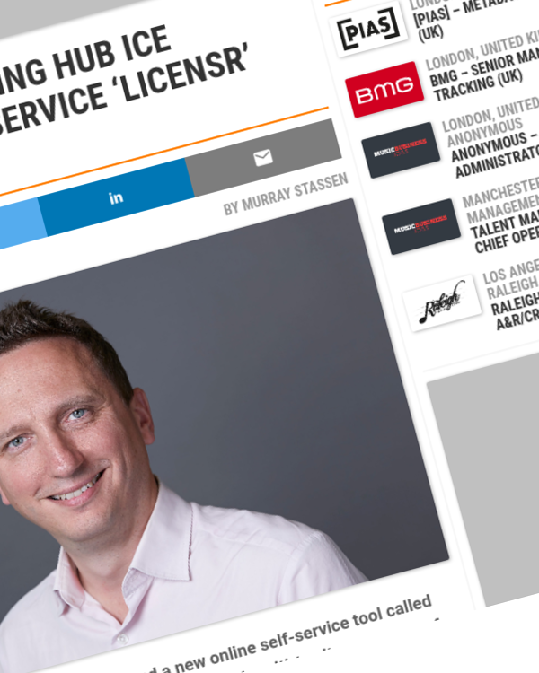 Fairness Rocks News Pan-European licensing hub ICE launches new self-service 'Licensr' tool